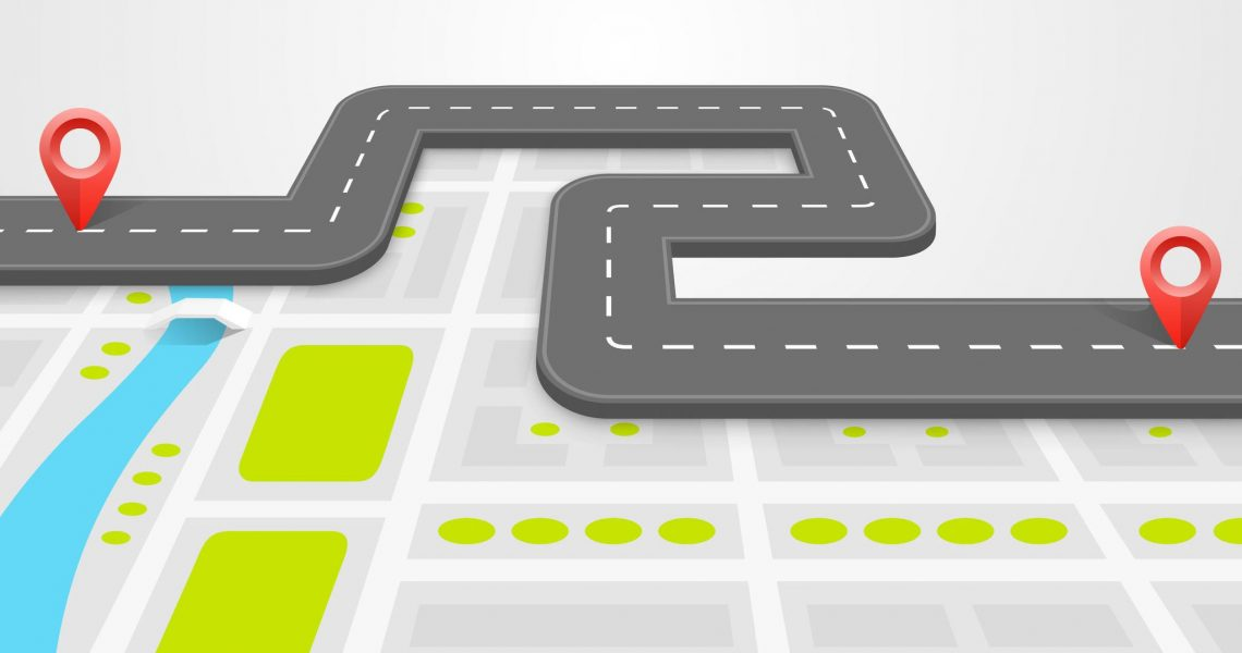 35799051 - paved path on the road art. vector background